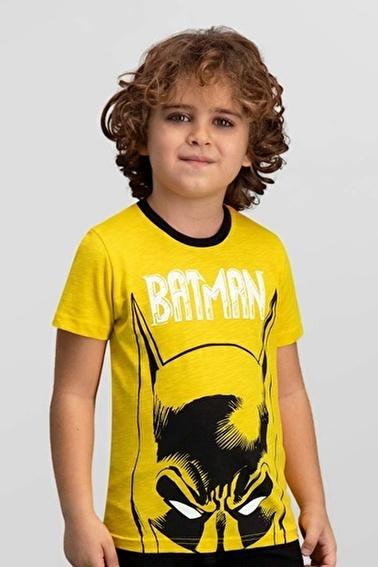 Batman Lisanslı Erkek Çocuk T-Shirt Sarı